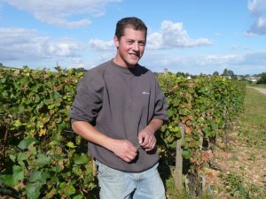 Arnaud Mortet in his vineyard