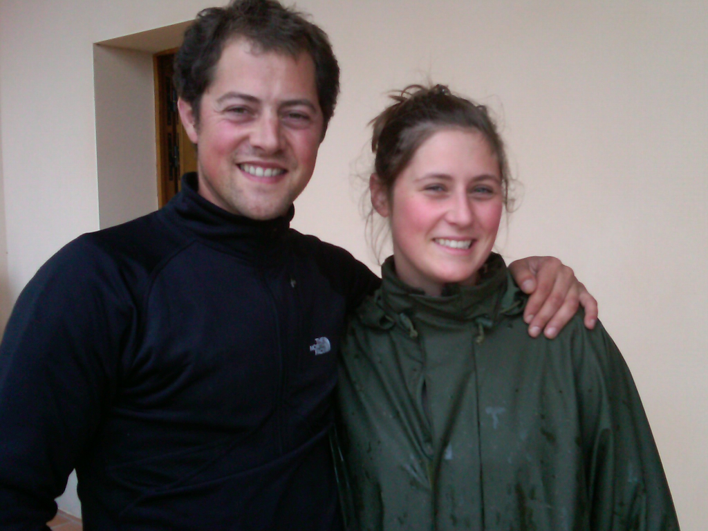 Arnaud Mortet with his sister Clémence