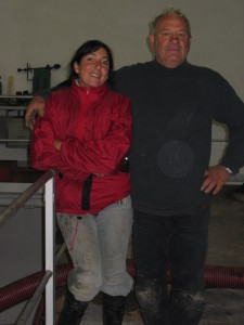 Laurence Feraud and her father