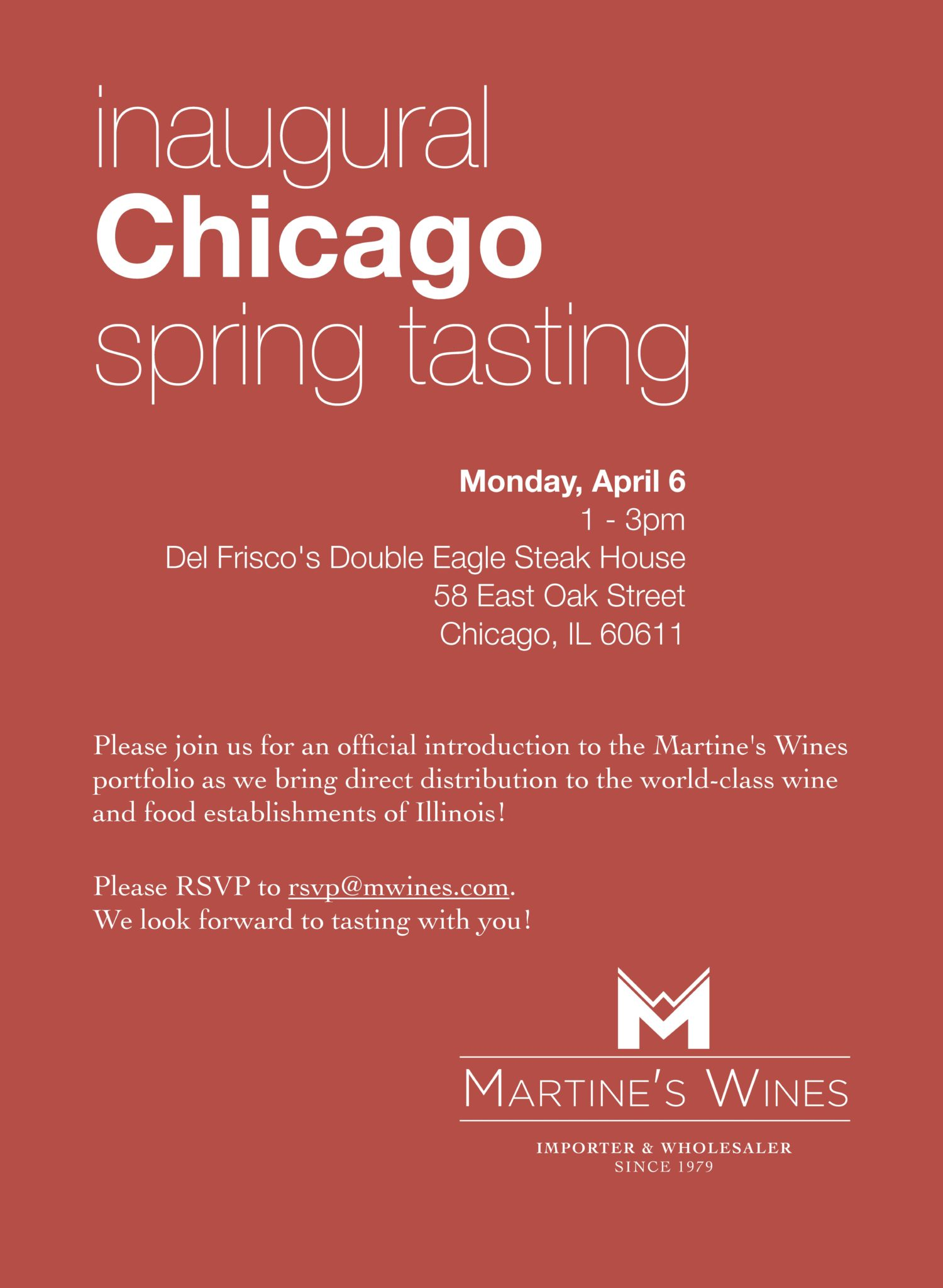 Martine's Wines Inaugural Chicago Spring Tasting 2015 Invite- PRINT_Page_1