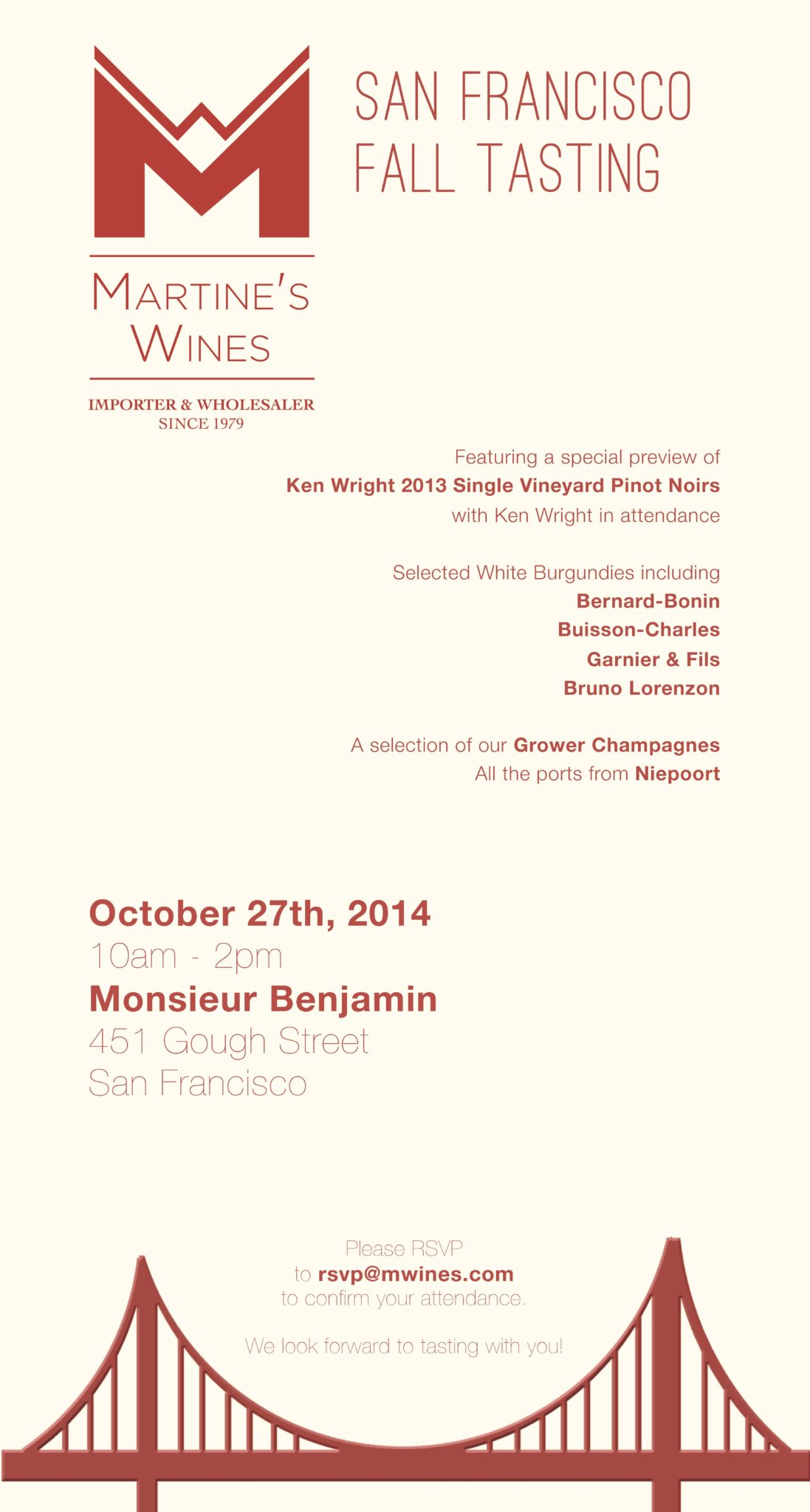 Martines Wines SF Tasting